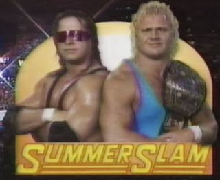 WWF / WWE: Summerslam 1991 - Bret Hart and Mr. Perfect had a classic match over the Intercontinental title