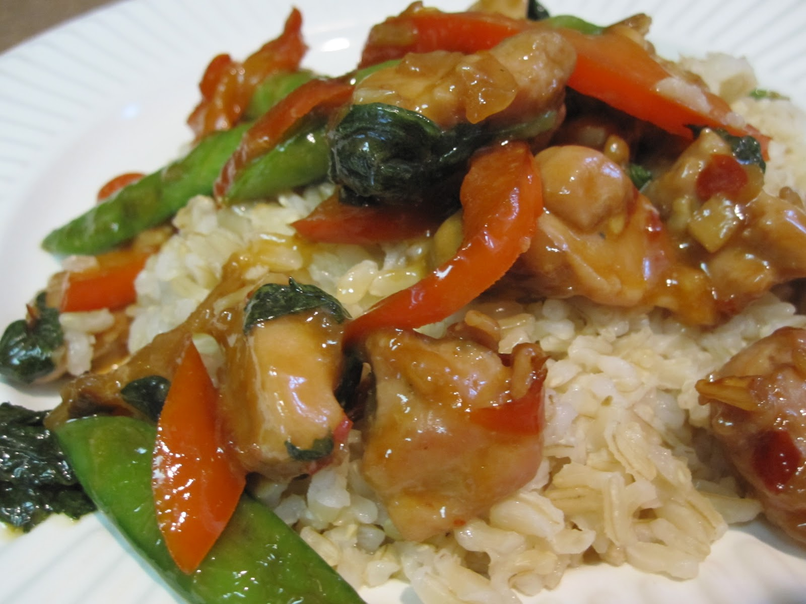 taylor made...: ... Spicy Basil Chicken