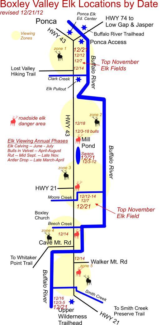 12/21/12 Elk Herd Locations