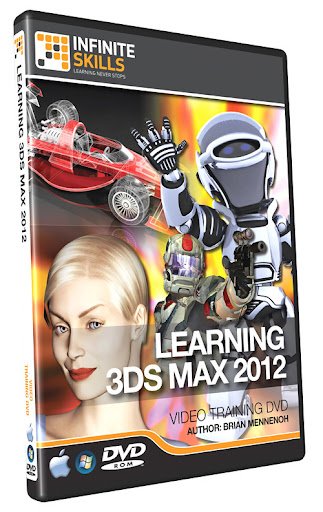 Learning 3ds max 2012 tutorial dvd video training for 3ds max course