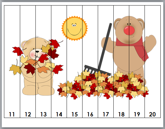 http://www.teacherspayteachers.com/Product/Autumn-Fall-Fun-Counting-Puzzles-852731