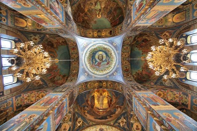 El interior de la Iglesia del Salvador sobre la Sangre Derramada