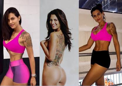 Corpo definido e sensual repórter do quadro 'Tudo por Amor' da Rede TV mostra boa forma em fotos de