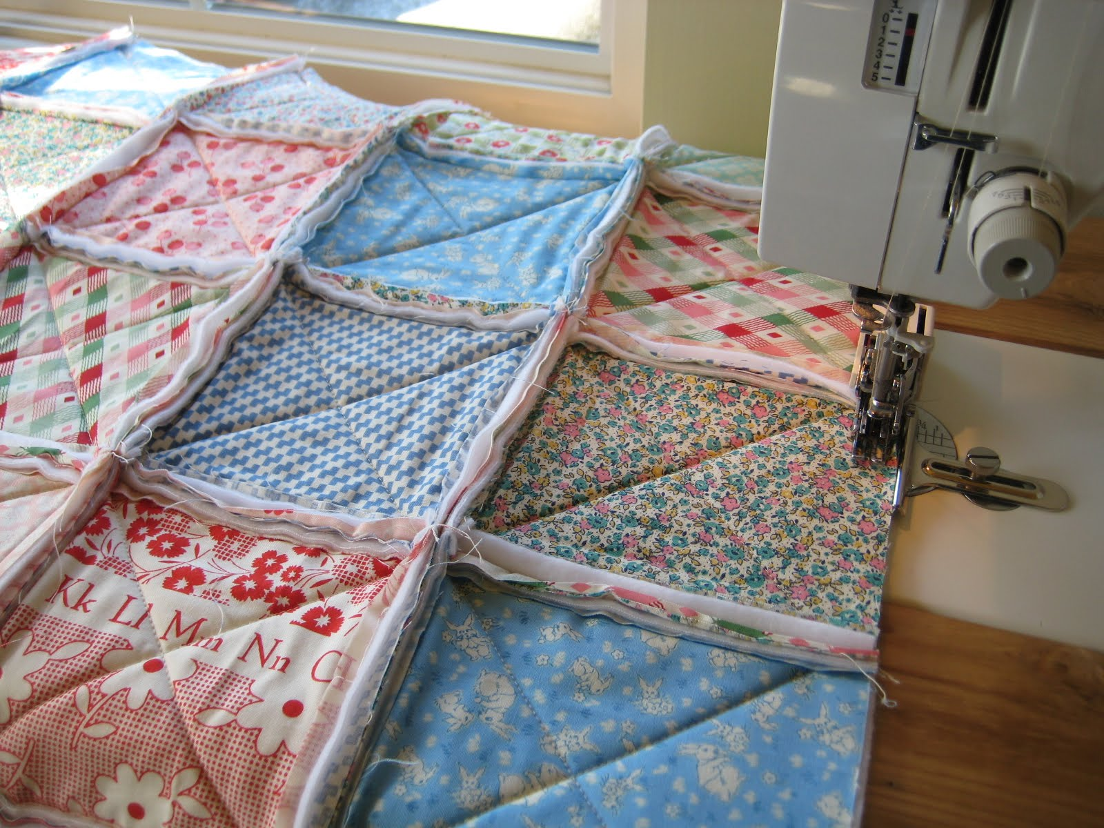 Rag Quilt Quilting In The Rain