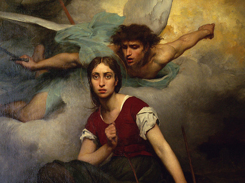 Eugene Thirion-Joan of Arc receiving message from archangel Michael.