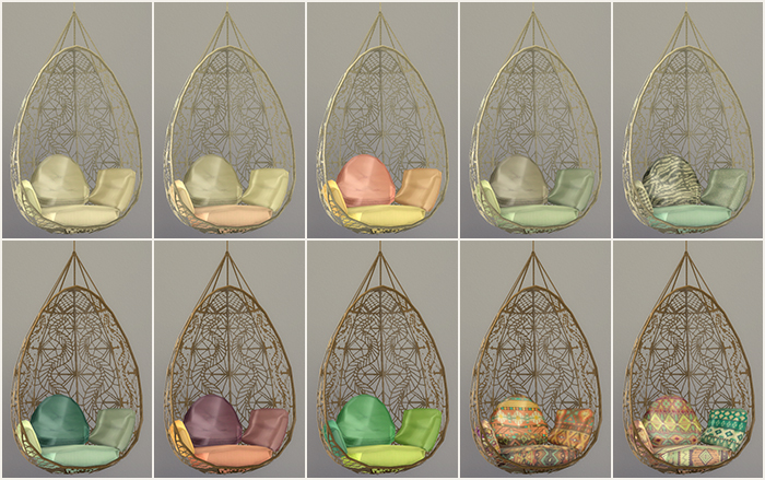 Sims 4 Cc S The Best Hanging Chair Recolors By Simsrocuted