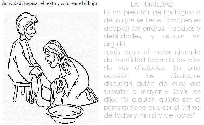 Dibujos para colorear del valor de humildad - Imagui