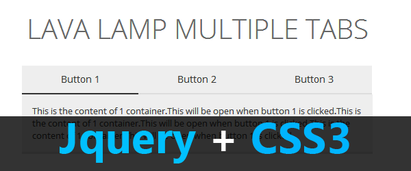 How to create dynamic tabs with lava lamp effect using Jquery