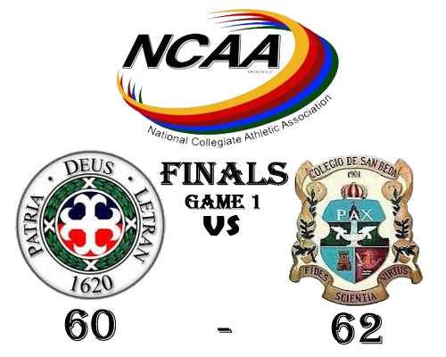 San Beda Red Lions win against San Juan de Letran Knights in NCAA 88 Finals Best-of-Three Series Game One