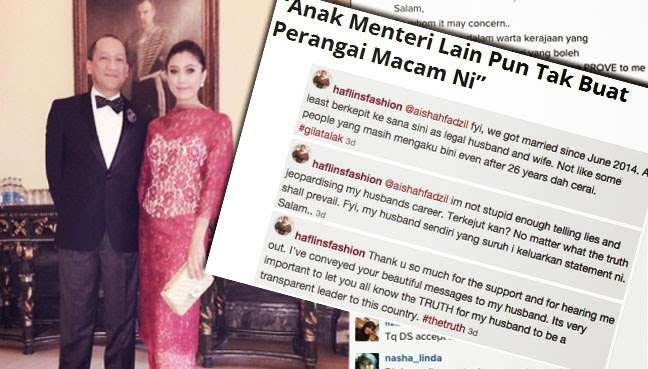 Anak Menteri Lain Pun Tak Buat Perangai Macam Ni kata Isteri muda Nazri kepada Nedim
