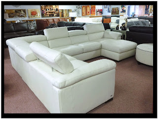 Lake Como Leather Sofa with Rolled Arms  Hudsons Bay