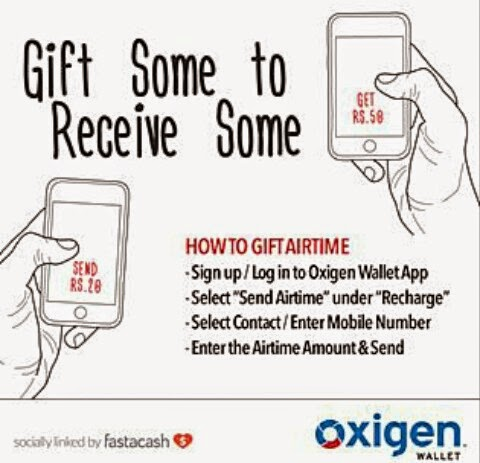 Oxigen Wallet Offer : Send Rs 20 to Friends and Get Rs 50 Cash Back