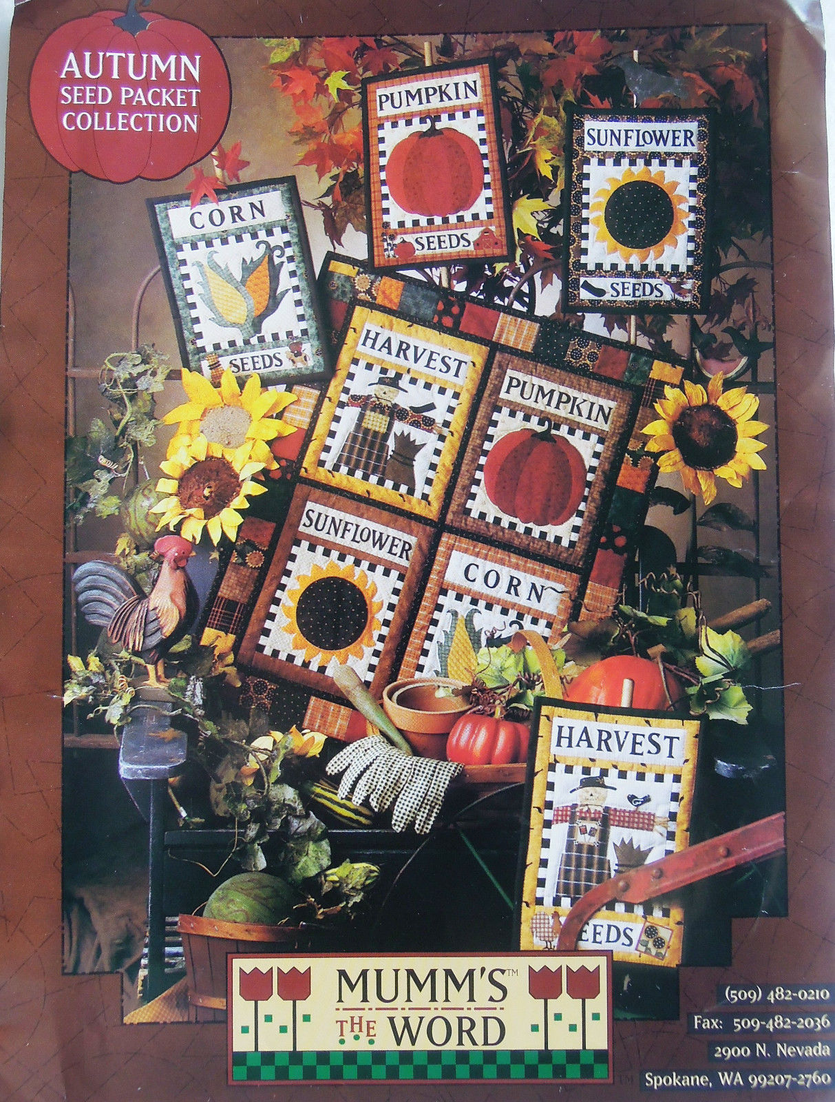 Only $1.99!  Autumn quilt patterns by Debbie Mumm (click!)