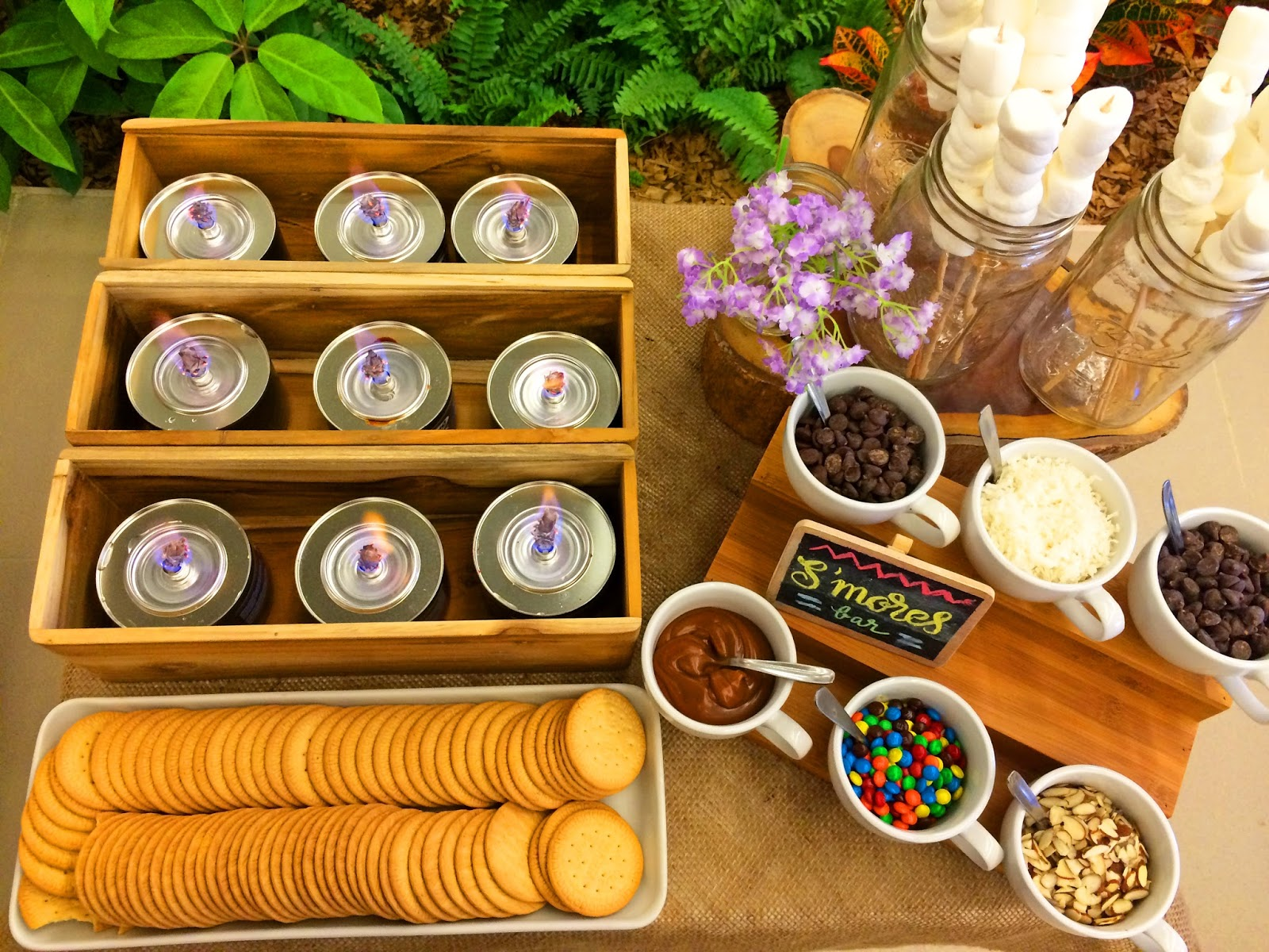Create a Smores bars for your next party with different toppings! What a fun idea!