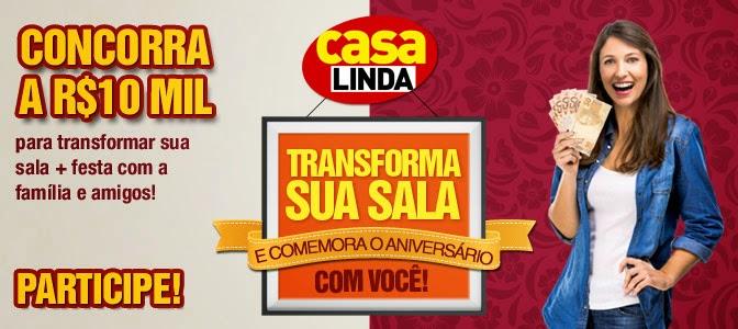 """Promoção Revista Casa Linda - """"Casa Linda transforma sua sala"""""""
