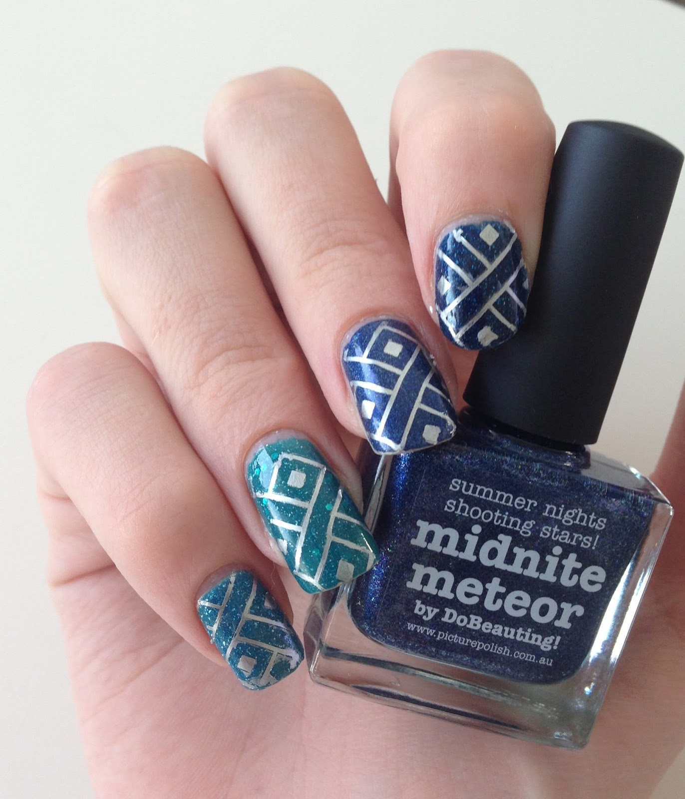 stamping ombre nails