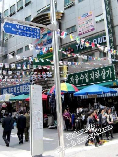 seoul korea namdaemun shopping