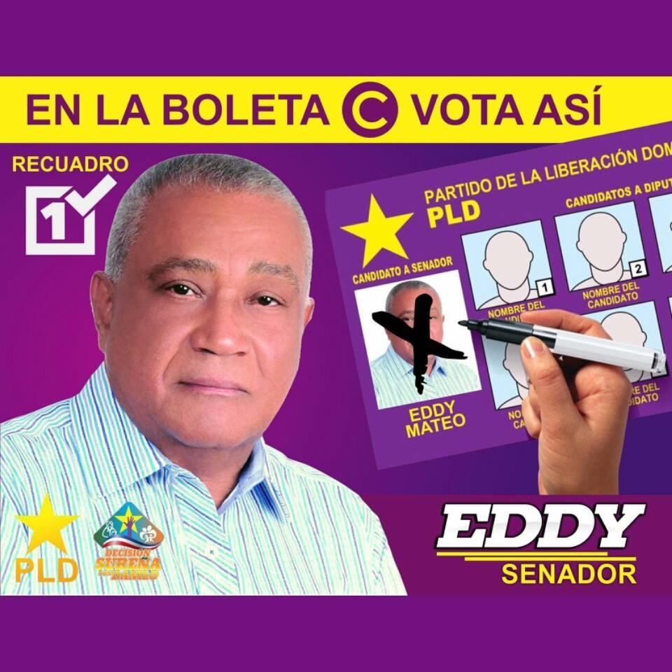 EDDY MATEO, SENADOR PLD PROVINCIA DE BARAHONA 2016-2020