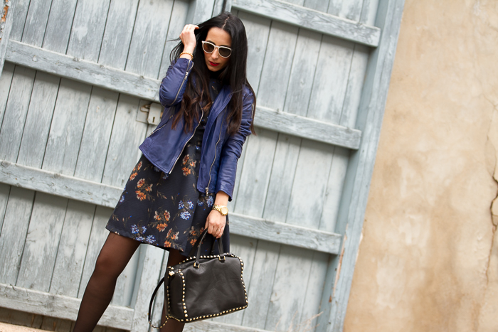Floral dress with ORI Tights