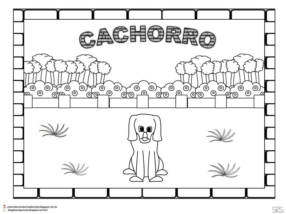 Desenho de um filhote de cachorro para colorir Hello Kids - imagens para colorir cachorro