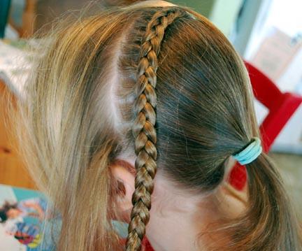 Hairdo How To Waterfall Braid Woven Look Ribbon Headband Ponytail