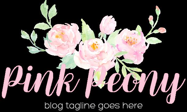 Pink Peony Blog Design