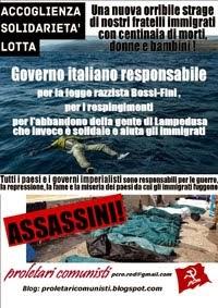 Lampedusa: strage di Stato!
