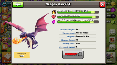 dragon clash of clans