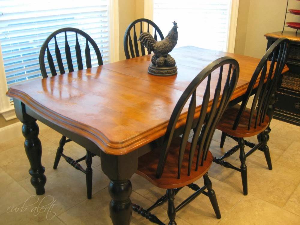 curb alert! : my new kitchen farm table {wood refinishing project}