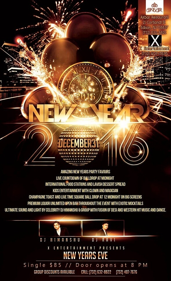 new year event in edison