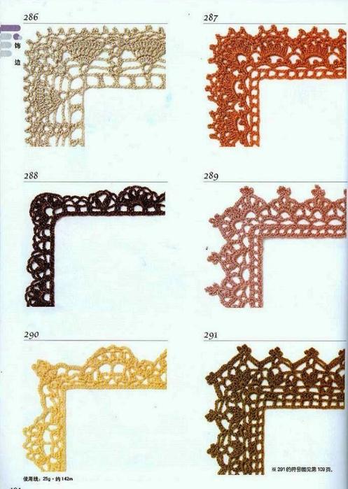 Solo Puntos Bordes Puntillas Crochet | Jongose Ninja