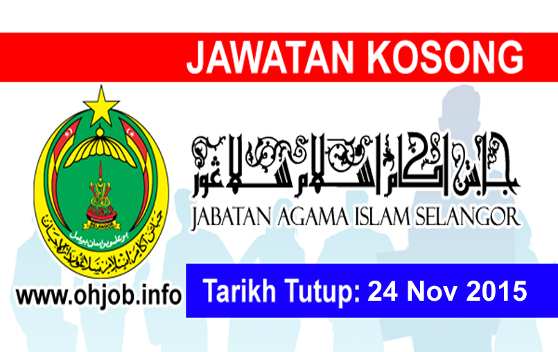 Jawatan Kerja Kosong Jabatan Agama Islam Selangor (JAIS) logo www.ohjob.info november 2015