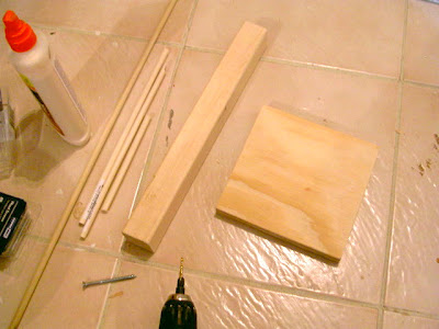 wood dowel tree how to