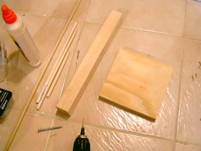 wood dowel tree how to