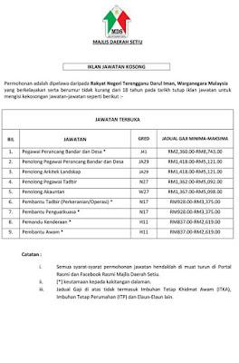 Majlis Daerah Setiu Jawatan Kosong