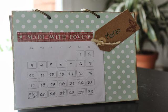 Calendario scrapbooking marzo