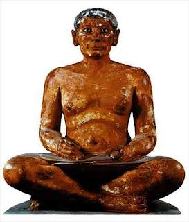 El Escriba Sentado - Egipto, Escultura Egipcia,
