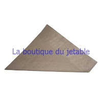 Serviette jetable en papier marron dite chocolat