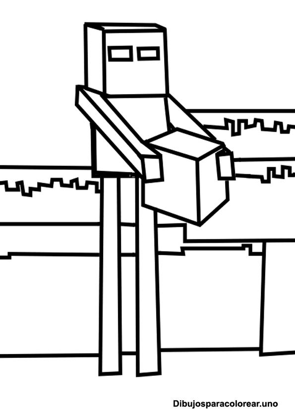 Dibujos de Minecraft para Imprimir y Colorear - Blogitecno