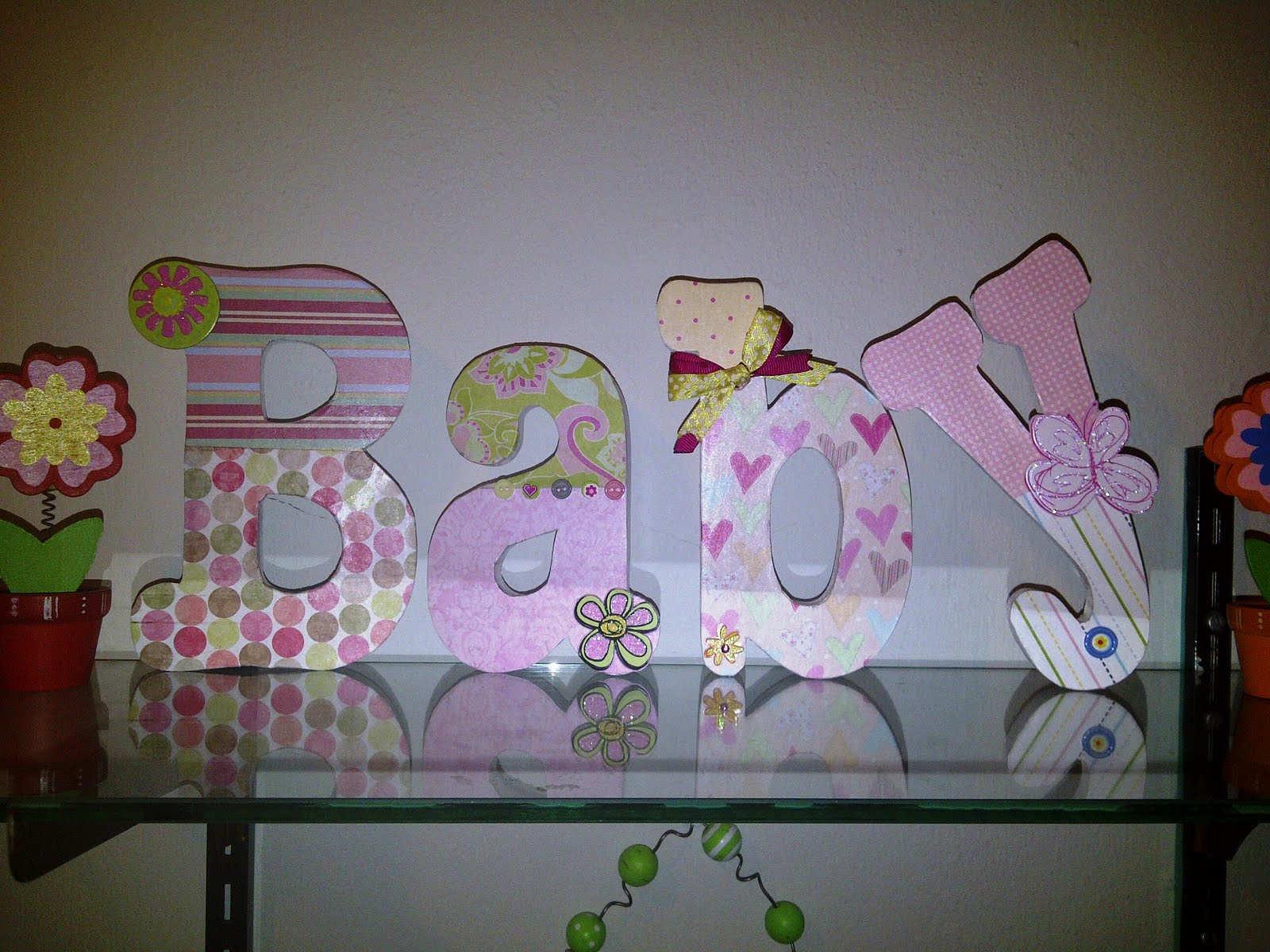 Lucky Girl: DIY - Decorate Wooden Letters