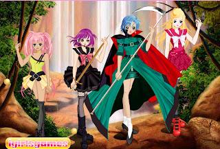 Juego de vestir a las princesas guerreras