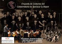 El 27 de junio de 2012, actuación de la Orquesta de Guitarras del Conservatorio de Sanlúcar la Mayor
