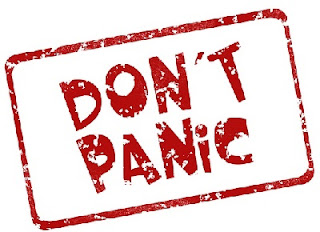 dont panic sign