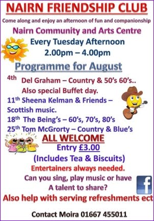 Nairn Friendship Club August