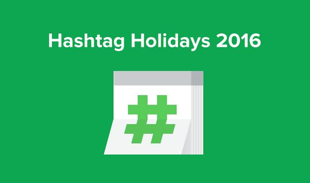 Hashtag Holidays 2016 Calendar