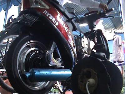 Sepeda Motor Unik dari Sleman, Pakai Listrik dan Bensin