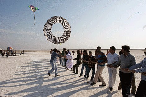 Kite festival of Rann Utsav