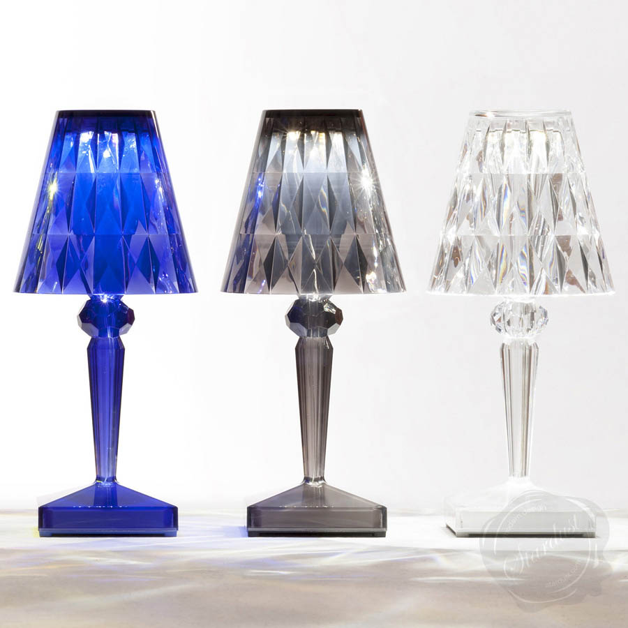 rechargeable battery lamp by kartell. Black Bedroom Furniture Sets. Home Design Ideas