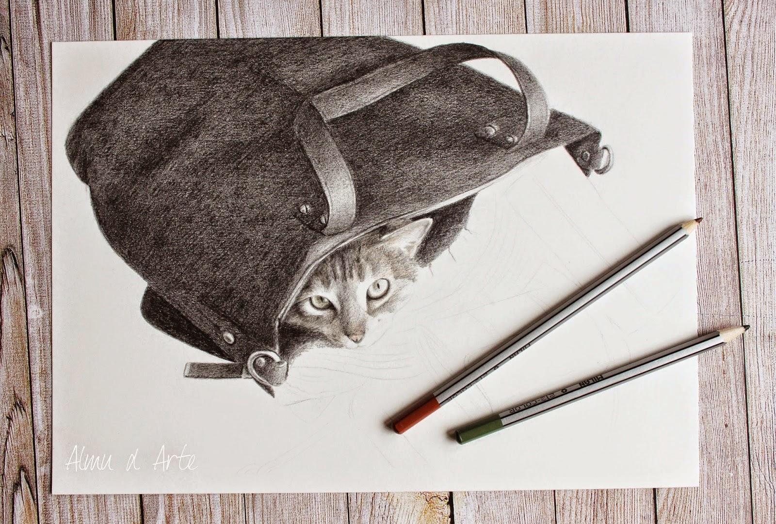 Retrato de mascotas a lápiz