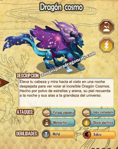 imagen de las caracteristicas del dragon cosmo
